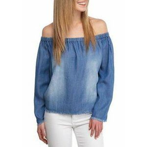 NWOT Cloth &  Stone Chambray Top Off the Should